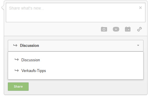 Discussion Categories Google Plus Communities
