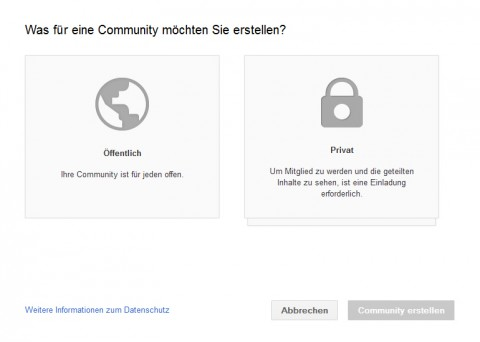 Privat-Public Communities