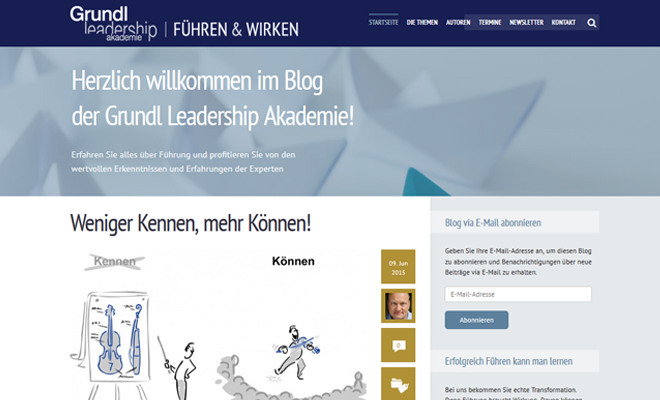 Blog der Grundl Leadership Akademie