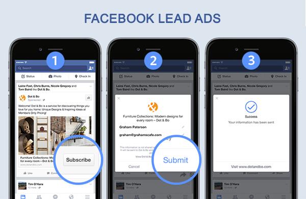 Launch der Facebook Lead Ads