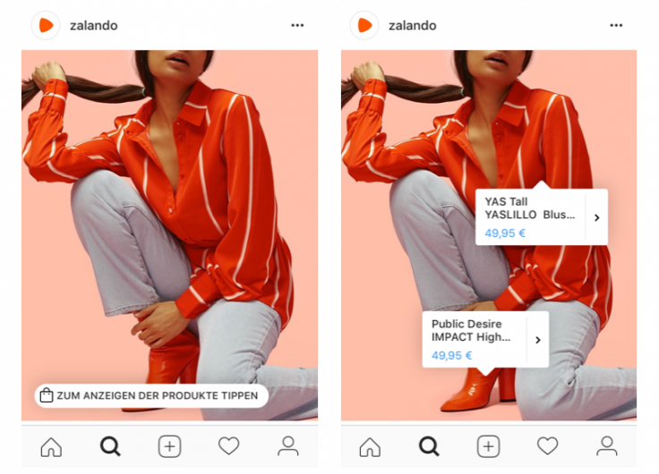 instagram shopping zalando